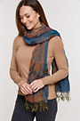 Ruched Shawl-Style Scarf