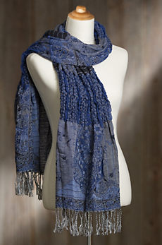 Ruched Shawl-Style Scarf III