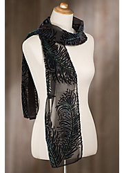 Brilliance Silk Velvet Scarf