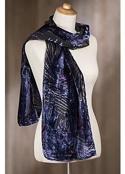 Plume Silk Velvet Scarf
