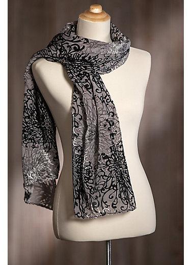 Velvet Silk-Blend Scarf