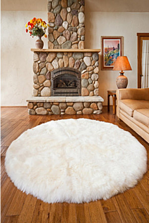 overland ' round premium australian sheepskin rug  overland, Rug/