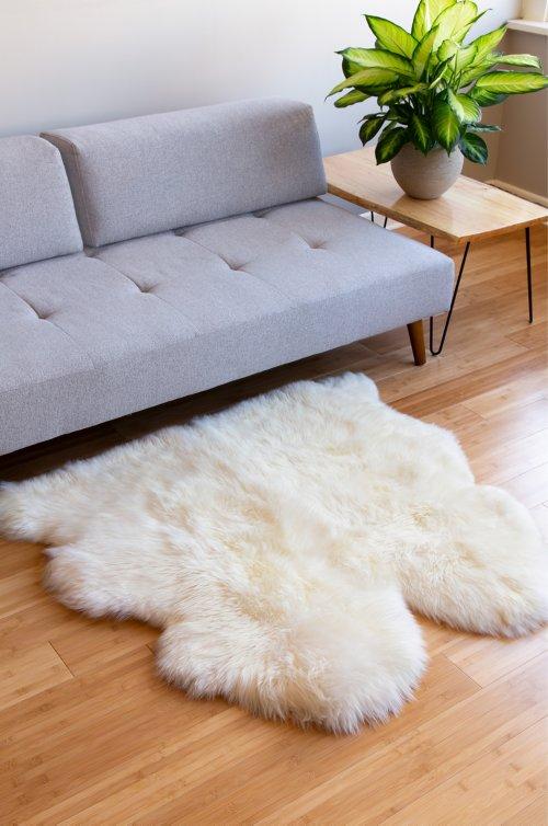 Overland 2-Pelt (3.5' x 3.5') Premium Australian Sheepskin Rug