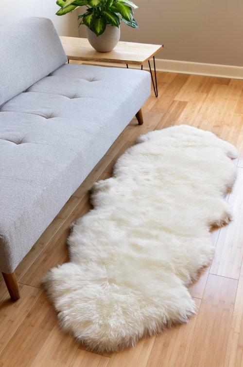 Overland 2-Pelt (2' x 6') Premium Australian Sheepskin Runner Rug
