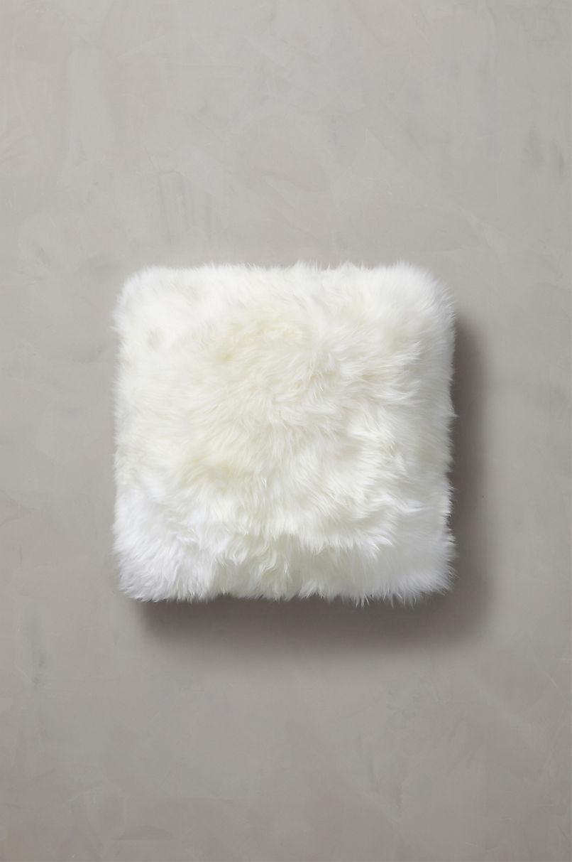 "Overland 18"" x 18"" Single-Sided Australian Sheepskin Pillow"