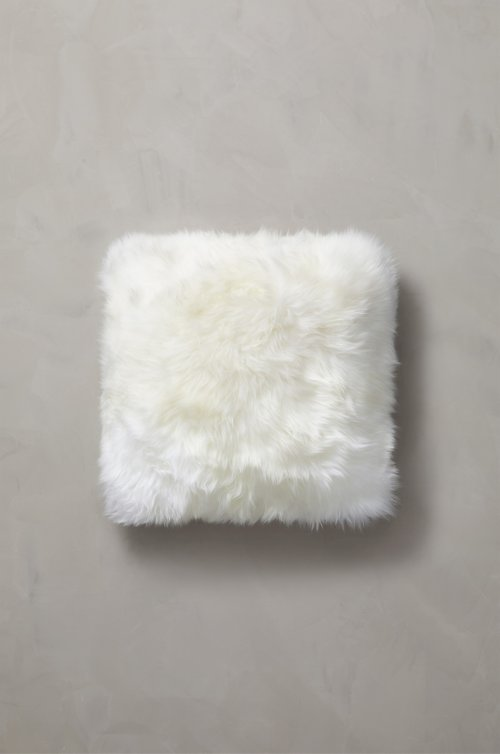 "18"" x 18"" Single-Sided Australian Sheepskin Pillow"