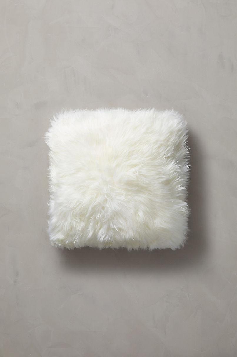 "Overland 18"" x 18"" Double-Sided Australian Sheepskin Pillow"