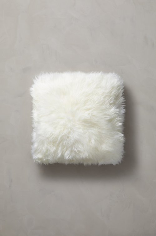 "Overland 18"" x 18"" Double-Sided Australian Sheepskin Pillow"