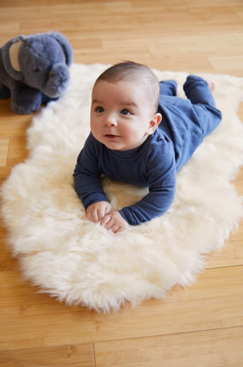 Overland Long Wool Sheepskin Baby Rug