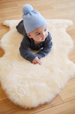 Overland Short Wool Sheepskin Baby Rug