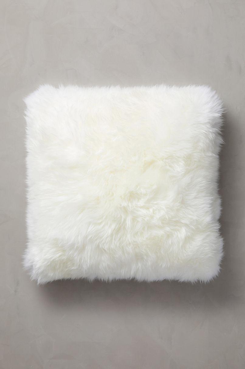 "Overland 24"" x 24"" Single-Sided Australian Sheepskin Pillow"