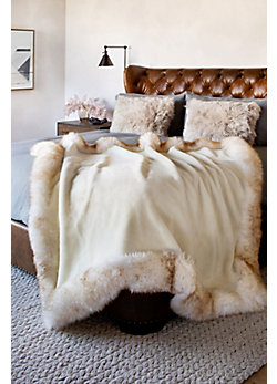 Overland Australian Sheepskin Border Throw
