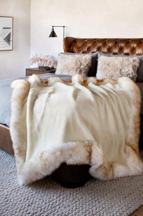 Nordic Palace Premium Australian Sheepskin Throw Blanket