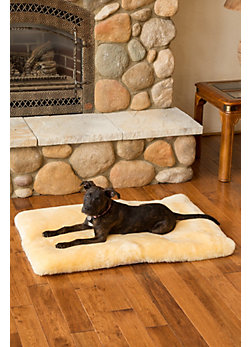 "Overland 39"" x 28"" Large Australian Sheepskin Pet Bed"