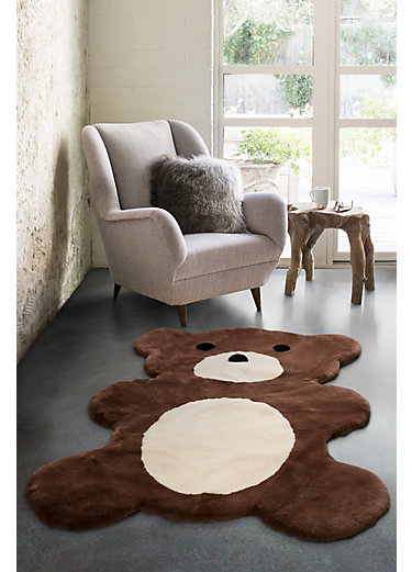 Overland Teddy Bear Two-Tone Australian Sheepskin Rug