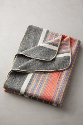 Striped Alpaca-Blend Wool Blanket