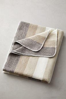 Striped Alpaca Wool-Blend Blanket