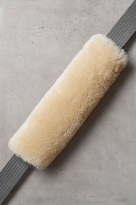 Universal Matching Sheepskin Seat Belt Cover