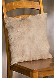 "Overland 16"" x 16"" Single-Sided Goat Hair Pillow"