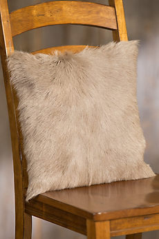 """Overland 16"""" x 16"""" Single-Sided Goat Hair Pillow"""