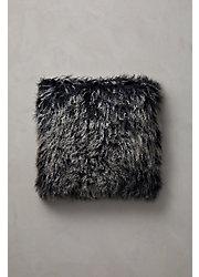 "Overland 20"" x 20"" Single-Sided Tibetan Lamb Fur Pillow"