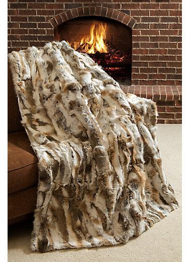 Snow Queen Rabbit Fur Blanket