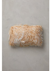 "Overland 20"" x 12"" Single-Sided Tibetan Lamb Fur Pillow"