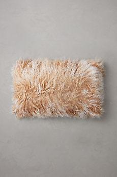 "Overland 12"" x 20"" Single-Sided Tibetan Lamb Fur Pillow"
