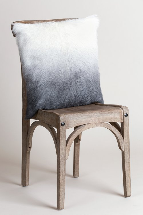 """Overland 20"""" x 20"""" Single-Sided Goat Hair Pillow"""