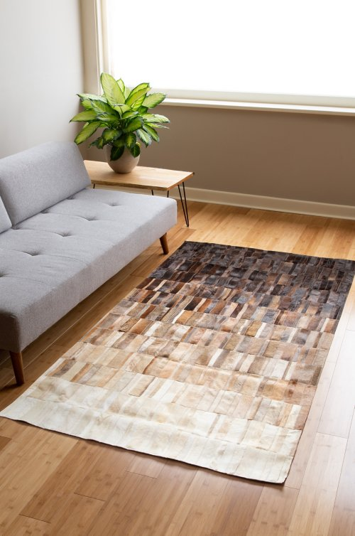 Overland 5' x 8' Cocoa Ombre Argentine Cowhide Rug