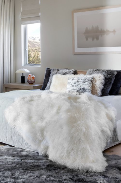 Polar Dreams Tibetan Lamb Fur Throw Blanket dab01c02e