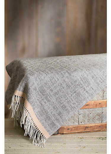Ombre Jacquard Peruvian Alpaca Wool Throw