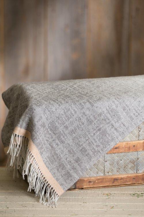 Ombre Jacquard Peruvian Alpaca Wool Throw