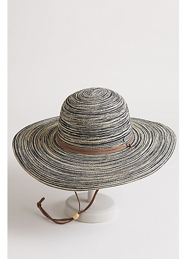 Wide Brim Toyo Straw Floppy Hat
