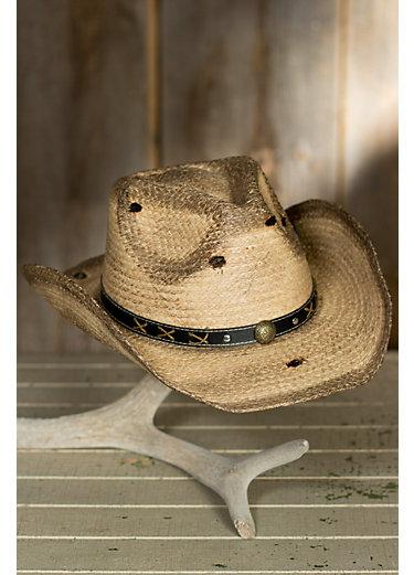 Gunsmoke Organic Raffia Cowboy Hat