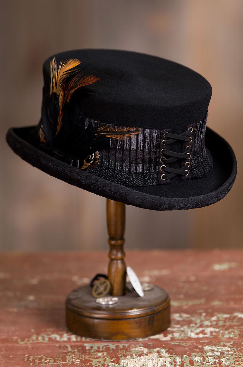 d8d9b2c5209 Steampunk London Lace Wool Top Hat
