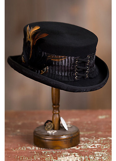 Steampunk London Lace Wool Top Hat