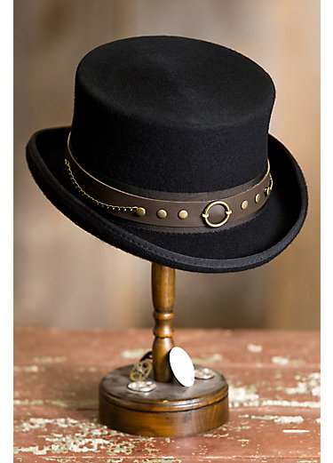 Steampunk Jubilee Australian Wool Top Hat