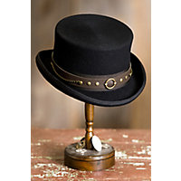 Men's Steampunk Costume Essentials Steampunk Jubilee Australian Wool Top Hat BLACK Size XLARGE 7 12â7 58 $85.00 AT vintagedancer.com