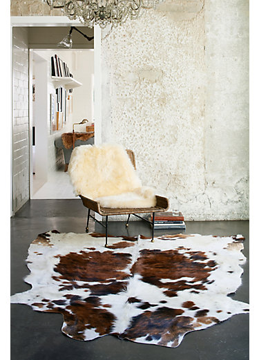 Overland Tri Color Exotic Cowhide Rug