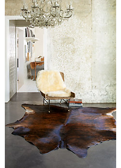 Dark Brindle Exotic Cowhide Rug