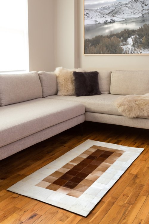 Overland 2.3' x 4.6' Ombre Argentine Cowhide Rug