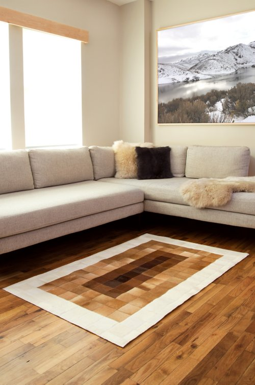 Overland 3.3' x 5.3' Ombre Argentine Cowhide Rug