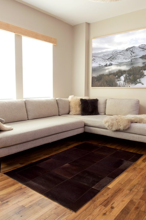 Overland 3.6' x 5.3' Tonal Argentine Cowhide Rug