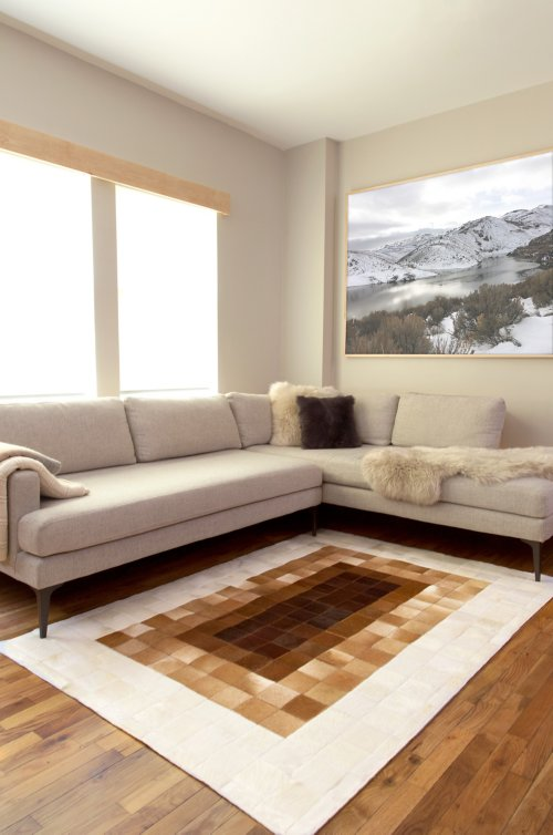 Overland 4.6' x 6.6' Ombre Argentine Cowhide Rug