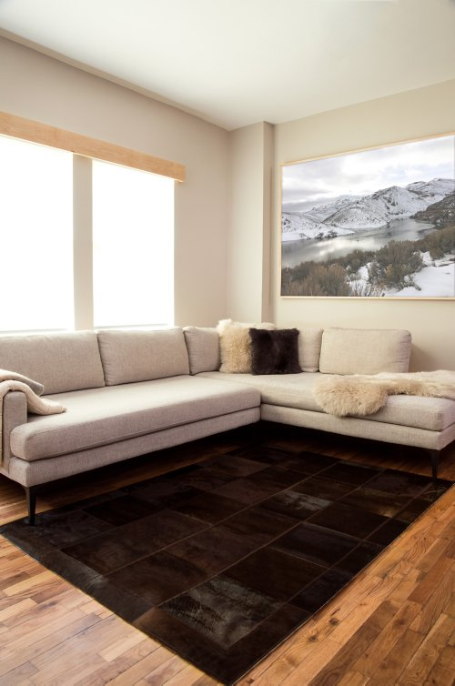 Overland 4.6' x 6.6' Tonal Argentine Cowhide Rug