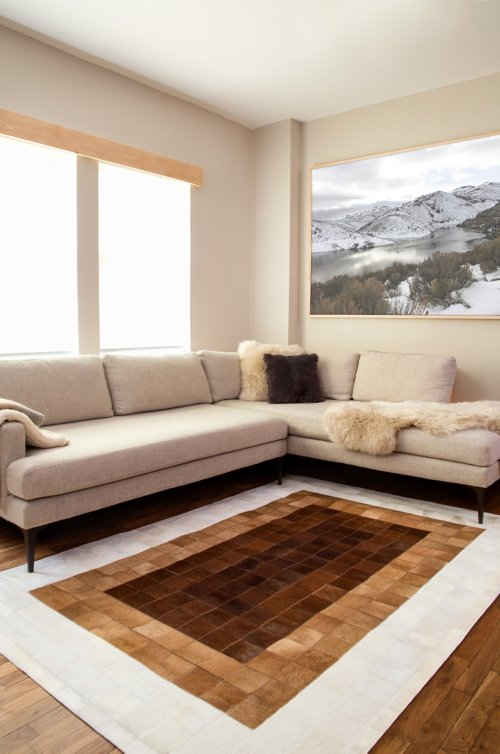 Overland 5.3' x 7.6' Ombre Argentine Cowhide Rug