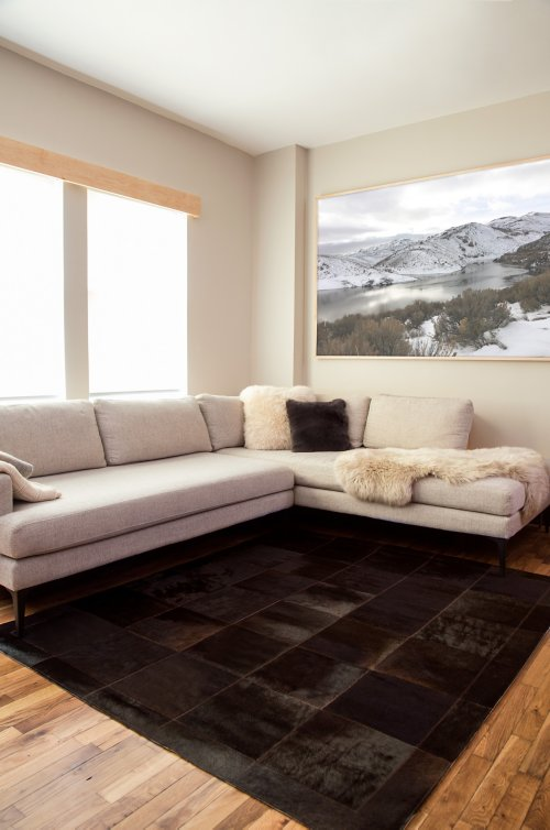 Overland 5.6' x 6.6' Tonal Argentine Cowhide Rug