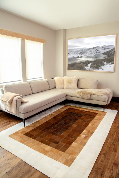 Overland 6' x 9' Ombre Argentine Cowhide Rug