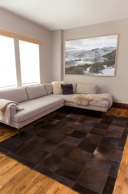 Overland 6.6' x 8.6' Tonal Argentine Cowhide Rug